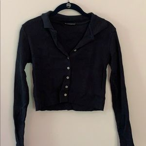 long sleeve collared top
